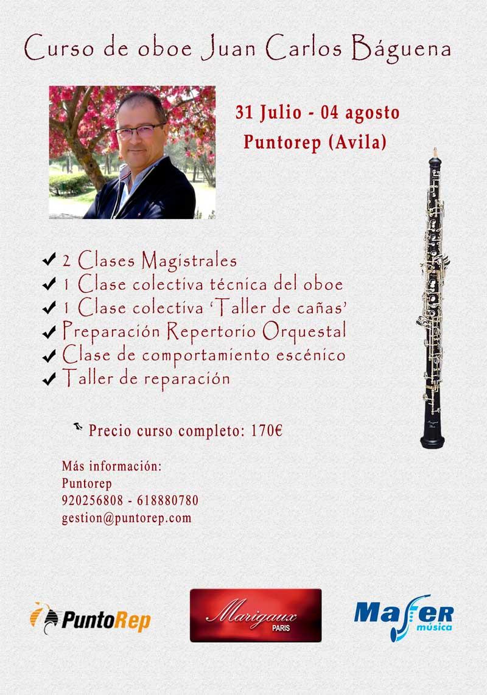 Curso Oboe Juan Carlos Báguena