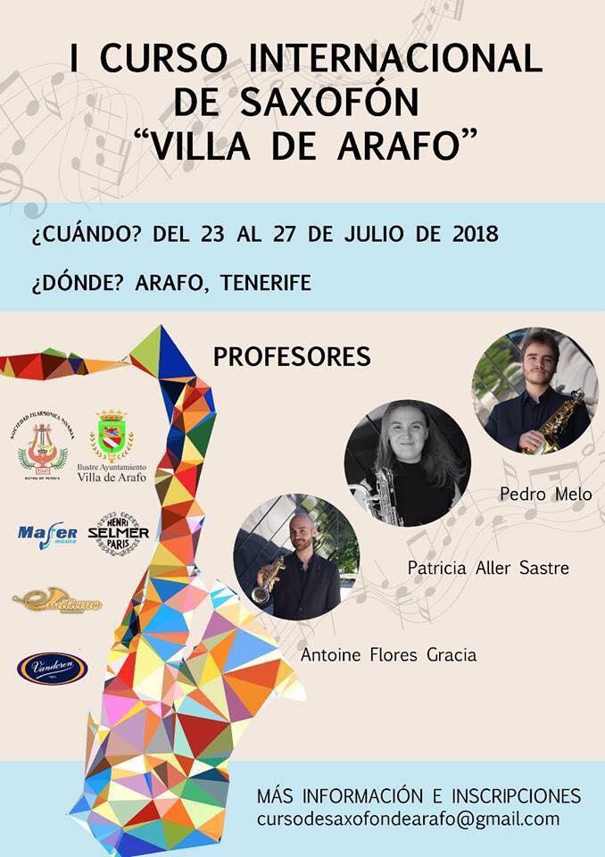 I curso internacional de saxofón Villa de Arafo